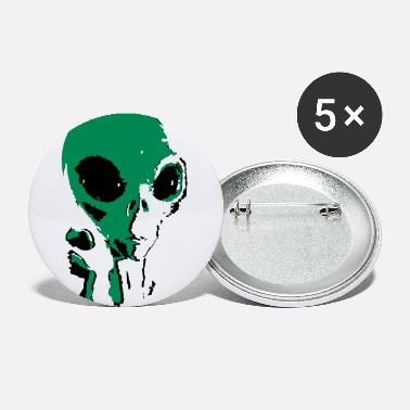 Grey grey alien - Large Buttons