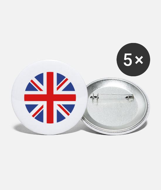 Kingdom Buttons & Pins - United Kingdom - Large Buttons white