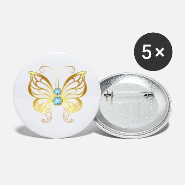 Jevels Gold jewelry jevel butterfly insect vector cool - Large Buttons