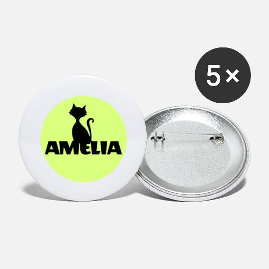 Halloween Buttons - Amelia First name Name Name Motif Christening - Large Buttons white
