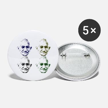 Pop Icon Mahatma Gandhi in Pop Art - Large Buttons