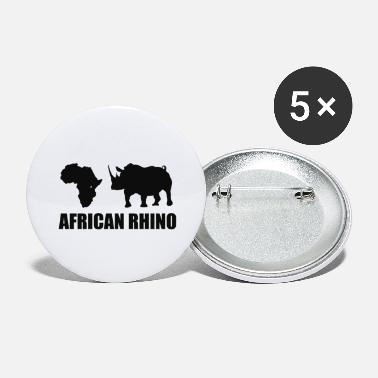 John Gomez African Rhino Black - Large Buttons