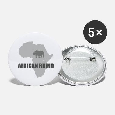 John Gomez African Rhino with africa map - Large Buttons