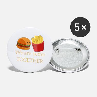 French Fries Burger and French Fries - Large Buttons
