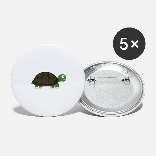 Turtle Buttons - Cute turtle - Large Buttons white