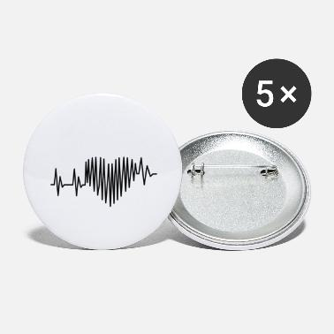 Heart Line Heartbeat Heart lines - Large Buttons