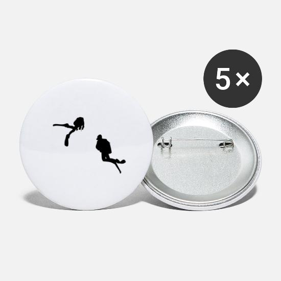 Diving Gift Buttons - Diving - Large Buttons white