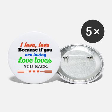 I Love I love,LOVE - Large Buttons