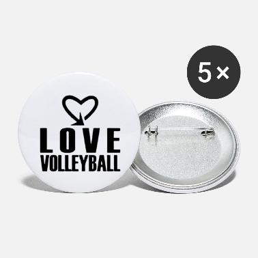 Black Love Volleyball Cool Style - Large Buttons