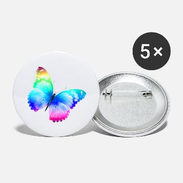 Large Large Transparent Multi Color Butterfly - Large Buttons