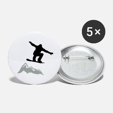 Lumilautailu Snowboarder jump Mountain - Large Buttons