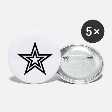 Star Star with a star - Large Buttons