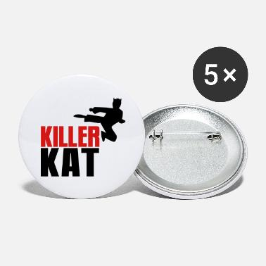 Killer Cat KILLER CAT ninja marital arts cat funny! - Large Buttons