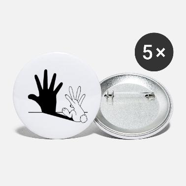 Funny Rabbit Rabbit Hand Shadow, Funny Rabbit Shadow - Large Buttons