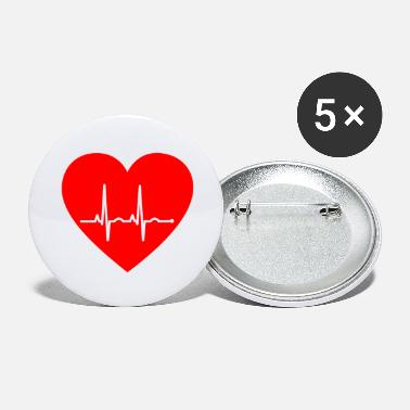 Pulse Heart with Pulse - Large Buttons