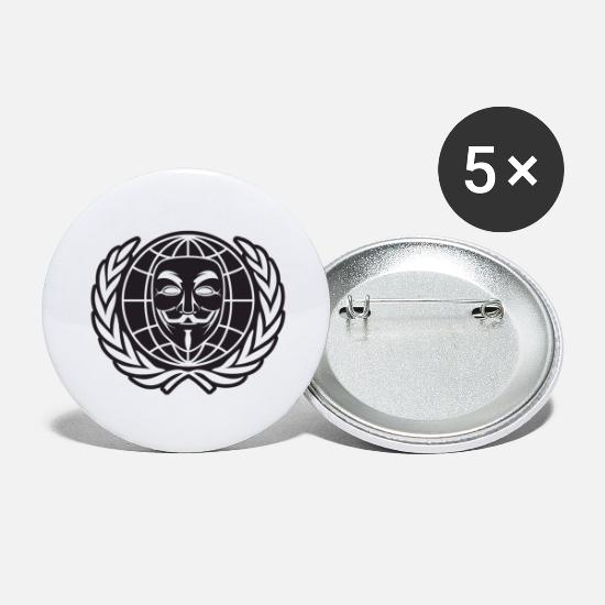 Anonymous Buttons - Anonymous - Large Buttons white
