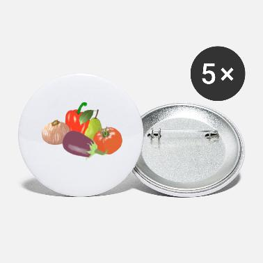 Vegetable Vegetables - Large Buttons