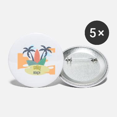 Beach Holiday surf beach holiday Gross - Large Buttons