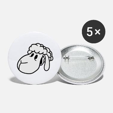 head face happy happy cute cute cute comic cartoon - Large Buttons
