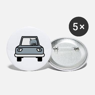 Cute caring, driving, cute, cat, cute, cute, cat, cute, - Large Buttons