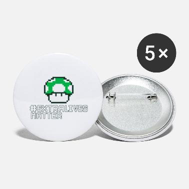 Extra Lives Matter | Geek Gamer 1Up Mushroom - Large Buttons