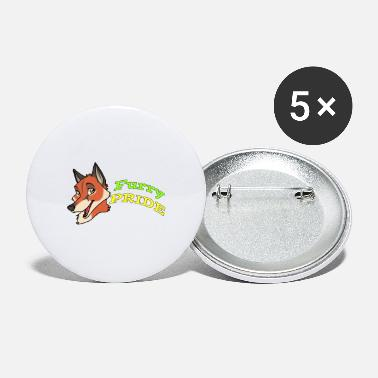 Furry Furry Pride: FOX - Large Buttons