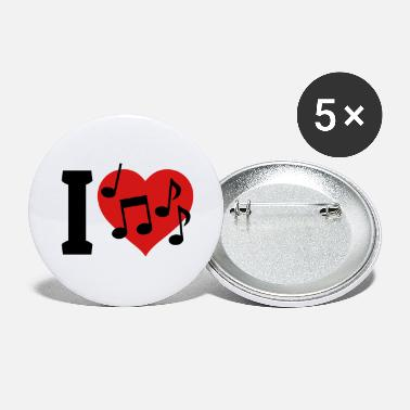 Best I love Music - Large Buttons