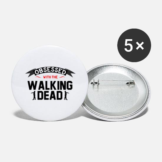 Zombie Buttons - tv series - Large Buttons white