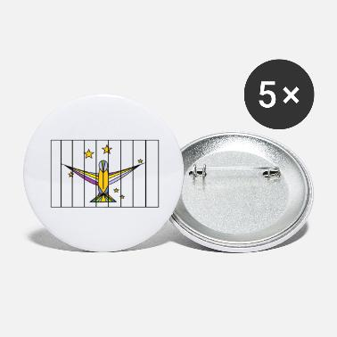 Caged Caged Bird - Large Buttons