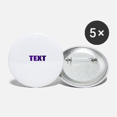 Text TEXT - Large Buttons
