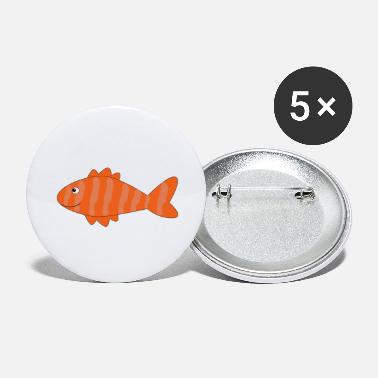 Salmon salmon - Large Buttons