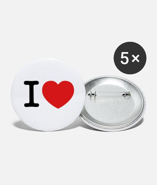 Concept Buttons & Pins - I Love - Large Buttons white
