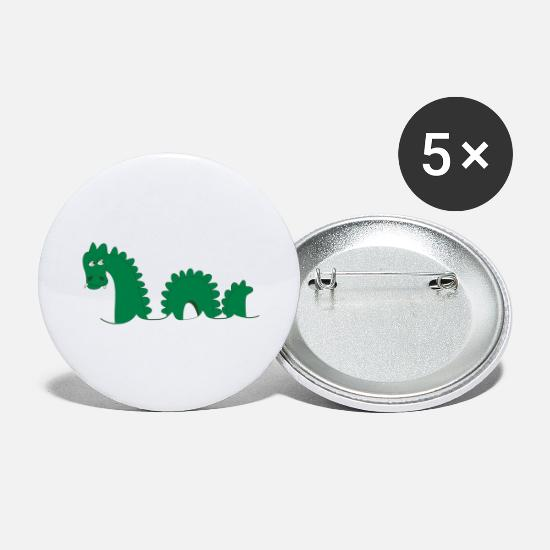 Monster Buttons - Loch Ness Monster, affectionately known as Nessie! - Large Buttons white