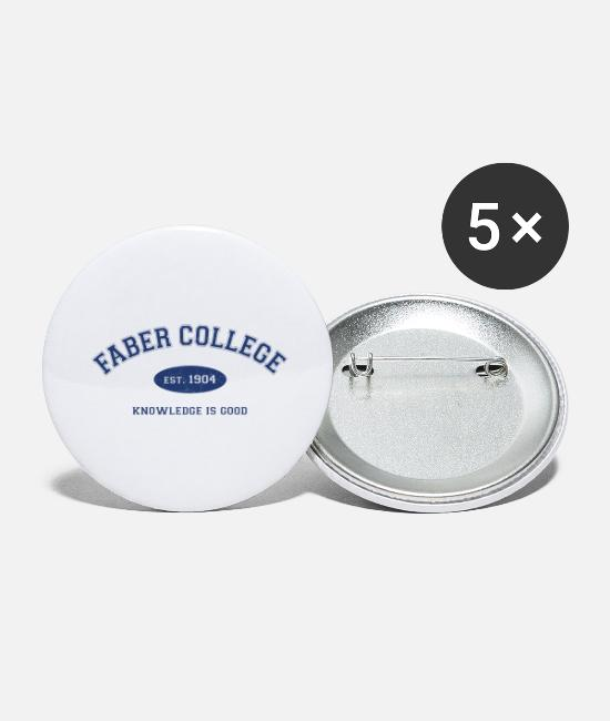 Toga Buttons & Pins - Faber College - Large Buttons white