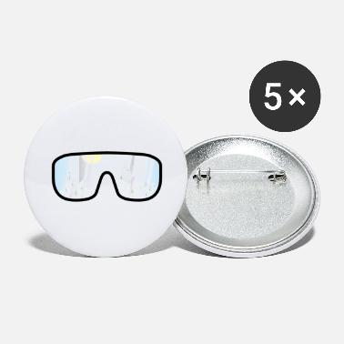 Ski Goggles ski goggles withmountains - Large Buttons