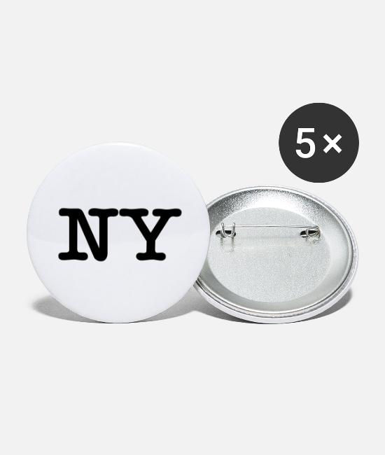 I Love New York Buttons & Pins - NY New York - Large Buttons white