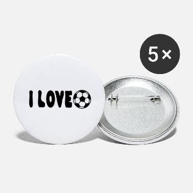 I Heart Football I love football - Large Buttons