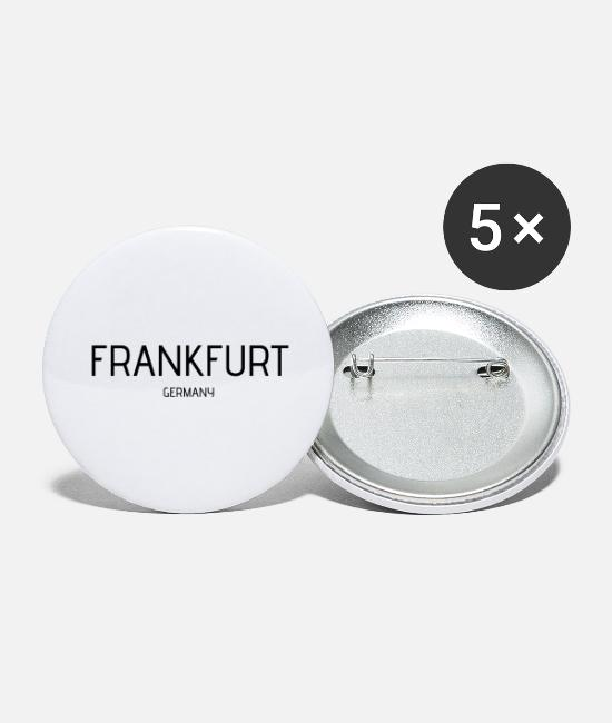 Travel Buttons & Pins - Frankfurt - Large Buttons white