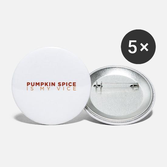 Spice Buttons - Pumpkin Spice - Large Buttons white
