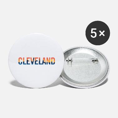 City Cleveland Ohio Pride Illustration - Large Buttons