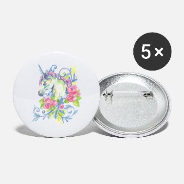 Dreamy Flowers Unicorn In Flowers - Large Buttons