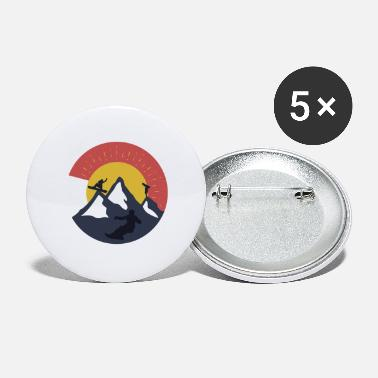 Snowboarder Snowboard Snowboarders Snowboarding Mountain - Large Buttons