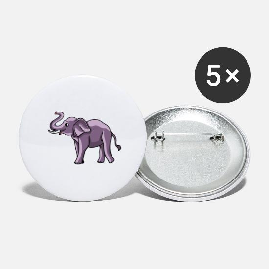 Lover Buttons - Elephant Trunk Sweet Funny Africa Gift - Large Buttons white