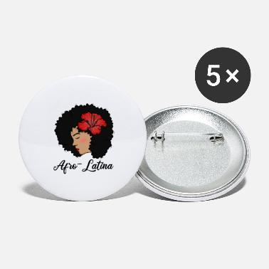 America Afro Latina and Proud latin america african gift - Large Buttons