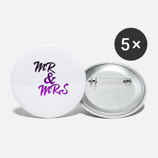 Mrs Buttons - Mr & Mrs - Large Buttons white