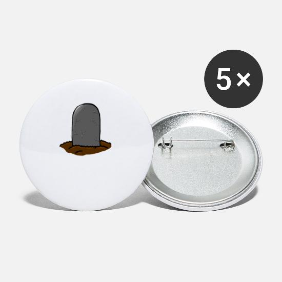 Death Buttons - grave stone - Large Buttons white