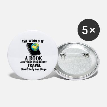 Travel Bug Book Travel Travel Bug reading world travel - Large Buttons