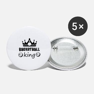 Provocation Basketball king funny basketball - Large Buttons