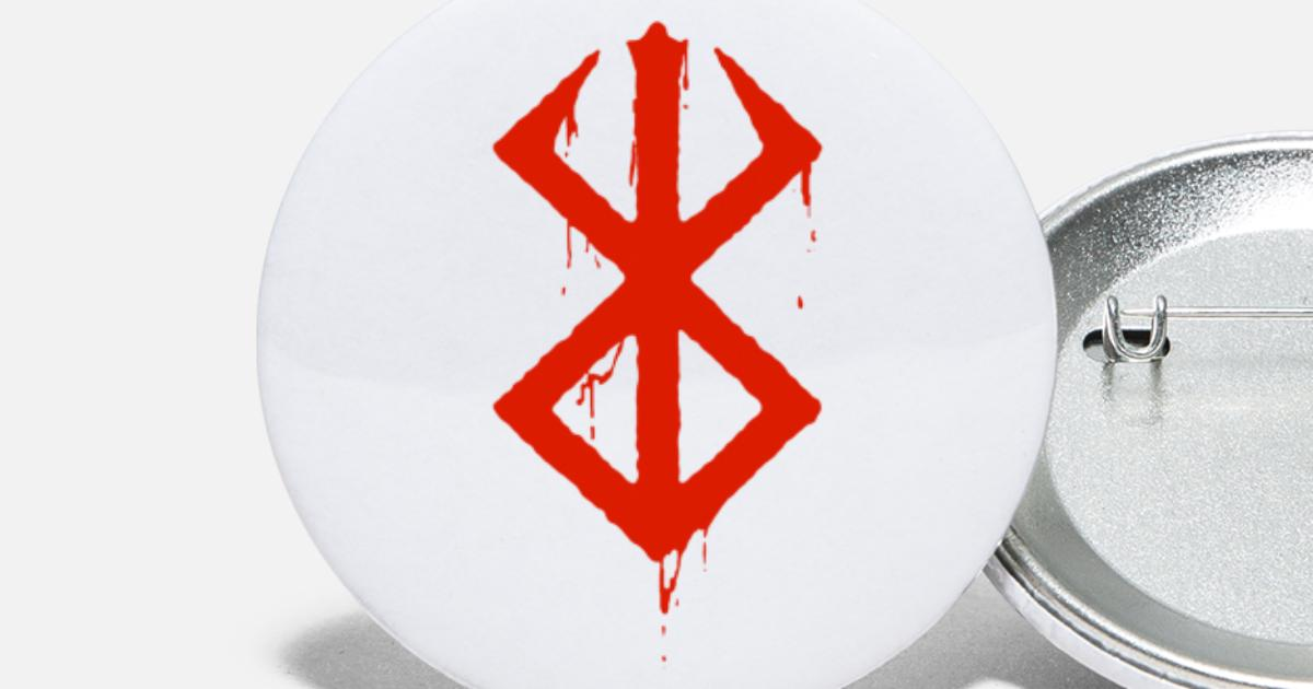 Berserk Bloody Symbol Large Buttons | Spreadshirt
