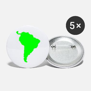 South America south america green - Large Buttons
